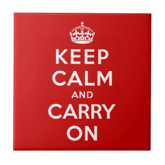 Keep Calm and Carry On Ceramic Tile