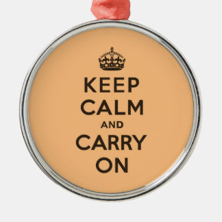 Keep Calm and Carry On Chocolate Orange Metal Ornament