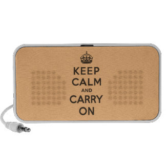 Keep Calm and Carry On Chocolate Orange Travel Speakers