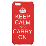 Keep Calm and Carry On classic British prints Cover For iPhone 5C