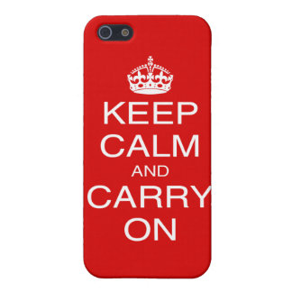 Keep Calm and Carry On classic British prints iPhone SE/5/5s Case