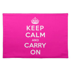 Placemat 20' x 14' with Keep Calm and Carry On (Magenta) design