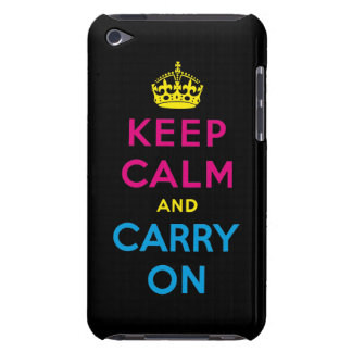 keep calm and carry on CMYK Barely There iPod Cover
