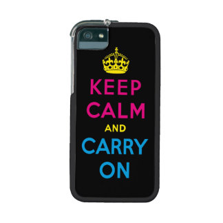 keep calm and carry on - CMYK iPhone 5 Covers