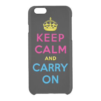 keep calm and carry on - CMYK Clear iPhone 6/6S Case