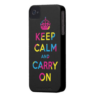 keep calm and carry on CMYK iPhone 4 Case