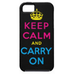 keep calm and carry on CMYK iPhone 5 Covers