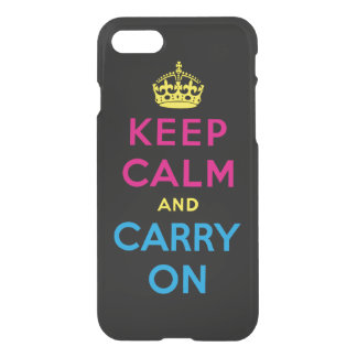 keep calm and carry on - CMYK iPhone 8/7 Case