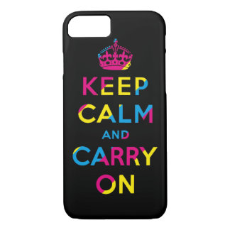 keep calm and carry on CMYK iPhone 8/7 Case