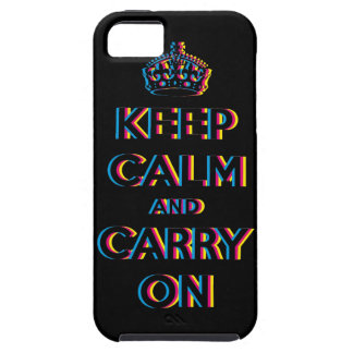 keep calm and carry on CMYK iPhone SE/5/5s Case