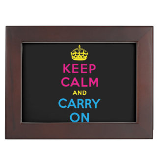 keep calm and carry on - CMYK Keepsake Box