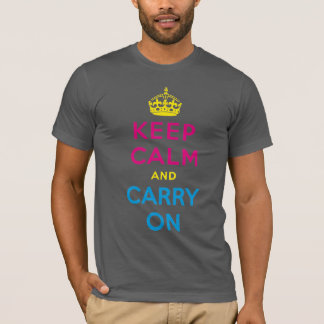 keep calm and carry on CMYK T-Shirt