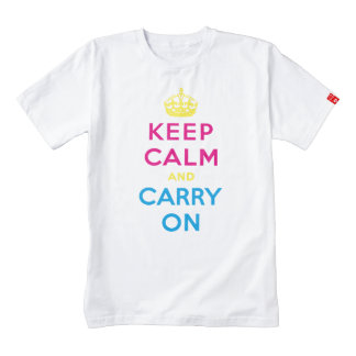 keep calm and carry on - CMYK Zazzle HEART T-Shirt