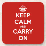 Keep Calm and Carry on Coaster set