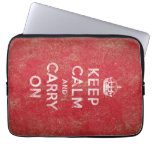 Keep Calm and Carry On Computer Sleeve