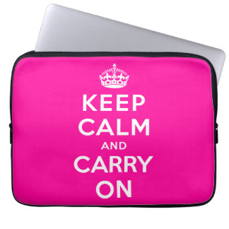 Keep Calm and Carry On Computer Sleeves