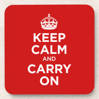 Keep Calm and Carry on Drink Coasters