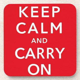 Keep Calm and Carry On Drink Coaster