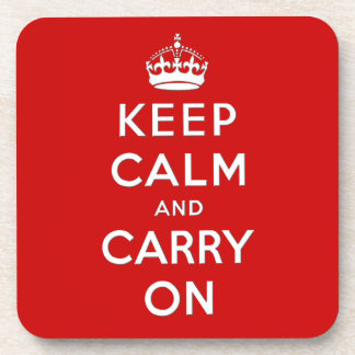 Keep calm and carry on beverage coasters