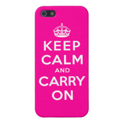 Keep Calm and Carry On (Magenta) Case Savvy iPhone 5 Matte Finish Case