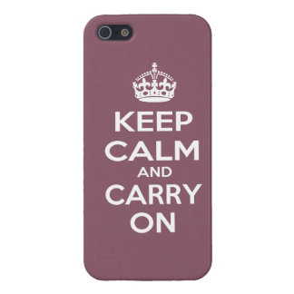 Keep Calm and Carry On Cover For iPhone SE/5/5s