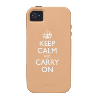 Keep Calm And Carry On. Creamsicle Pattern iPhone 4 Case