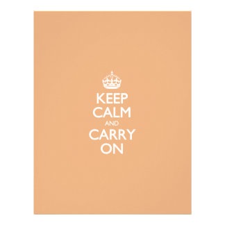 Keep Calm And Carry On Creamsicle Pattern Letterhead