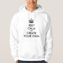 Men's Basic Hooded Sweatshirt with Keep Calm and Create Your Own design