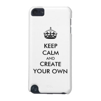 Keep Calm and Carry On Create Your Own | Black iPod Touch 5G Cover