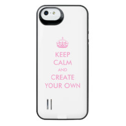 Uncommon iPhone 5/5s Clearly™ Deflector Case with Keep Calm and Create Your Own design