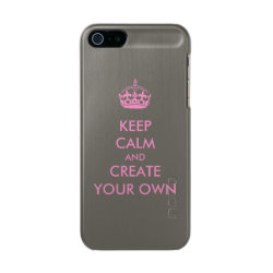 Incipio Feather Shine iPhone 5/5s Case with Keep Calm and Create Your Own design