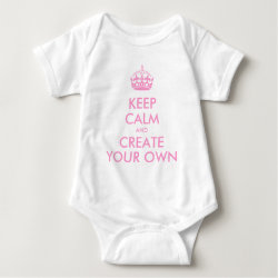 Baby Jersey Bodysuit with Keep Calm and Create Your Own design