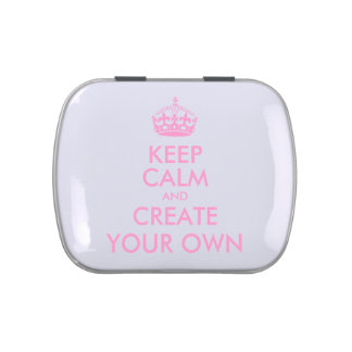 Keep Calm and Carry On Create Your Own | Pink Candy Tin
