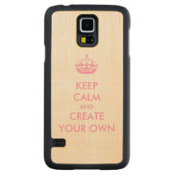 Carved ® Samsung Galaxy S5 Slim Wood Case with Keep Calm and Create Your Own design