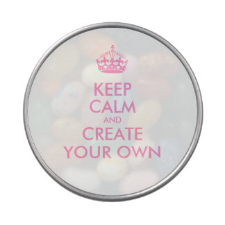 Keep Calm and Carry On Create Your Own | Pink Jelly Belly Candy Tin