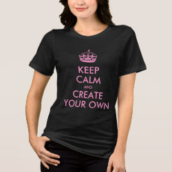 Women's Bella Plus Size Jersey T-Shirt with Keep Calm and Create Your Own design