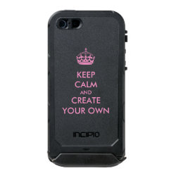 Keep Calm and Create Your Own Incipio Feather Shine iPhone 5/5s Case