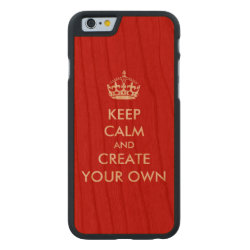 Carved ® iPhone 6 Bumper Wood Case with Keep Calm and Create Your Own design