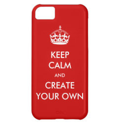 Case-Mate Barely There iPhone 5C Case with Keep Calm and Create Your Own design