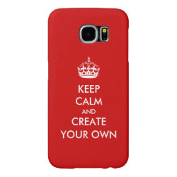 Case-Mate Barely There Samsung Galaxy S6 Case with Keep Calm and Create Your Own design
