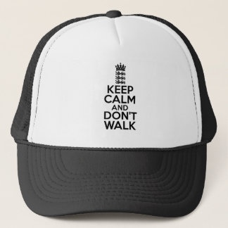Keep calm and carry on cricket trucker hat