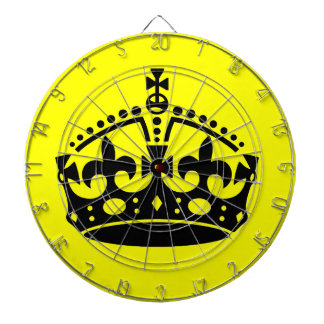 Keep Calm and Carry On Crown Dartboard