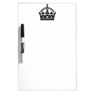 keep calm and carry on crown Dry-Erase board