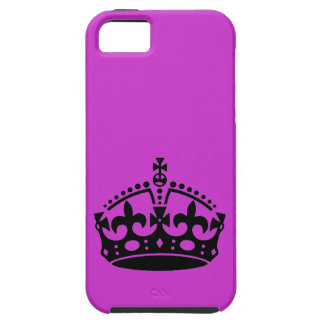 Keep Calm and Carry On Crown iPhone SE/5/5s Case