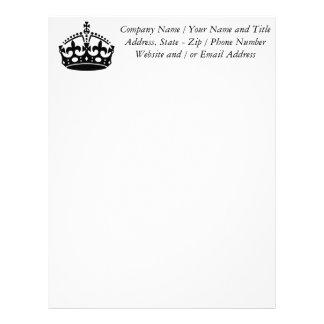 Keep Calm and Carry On Crown Letterhead