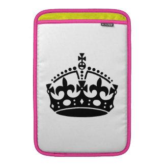 Keep Calm and Carry On Crown MacBook Air Sleeve