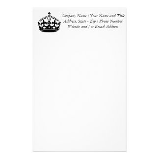Keep Calm and Carry On Crown Stationery