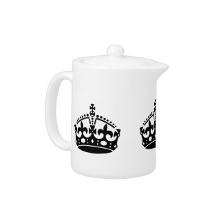 Keep Calm and Carry On Crown Teapot