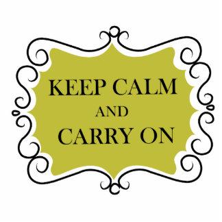 Keep Calm And Carry On Cutout