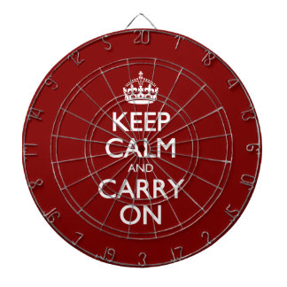 Keep Calm And Carry On. Dark Red Pattern Dartboards